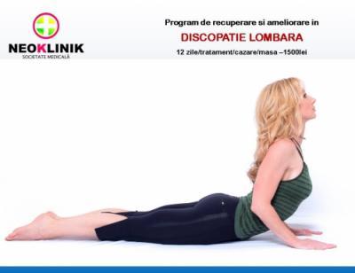 Program de Recuperare si Ameliorare in Discopatie Lombara-NeoKlinik statiunea Moneasa