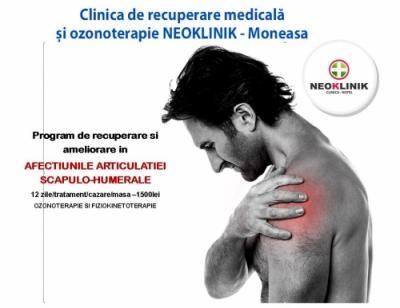 Recuperare Medicala in Afectiunile Articulatiei Scapulo-Humerale la NeoKlinik in Statiunea Moneasa